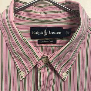 Ralph Lauren classic fit pinstripe button-down
